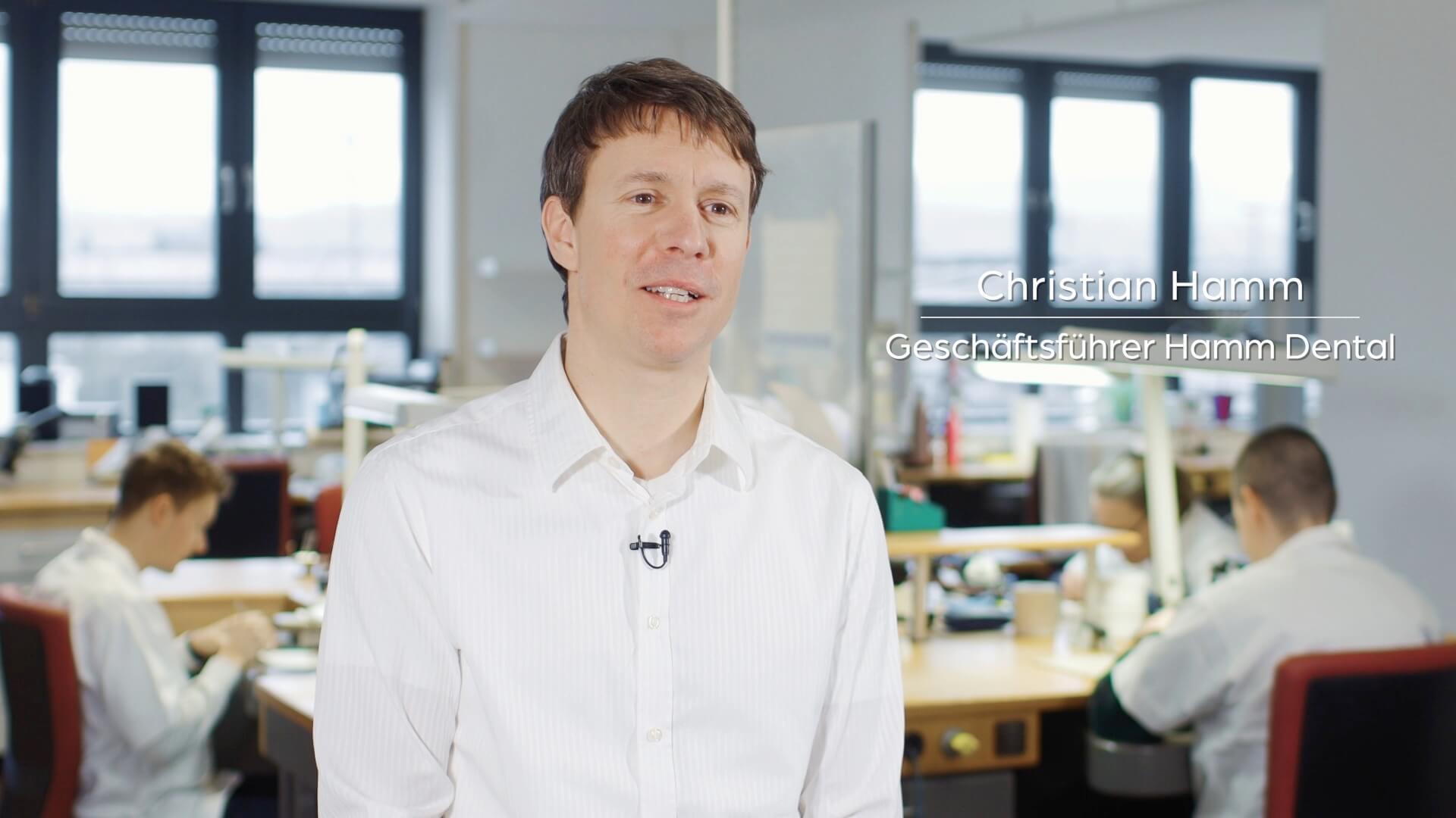 Christian Hamm - Zahntechnikermeister und Geschäftsführer von Hamm Dental